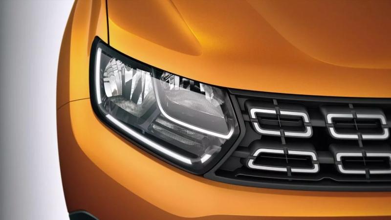Eine Dacia LED-Lichtsignatur
